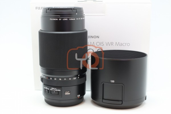 [USED-PUDU] Fujifilm 120mm GF F4 Macro R LM OIS WR 98%LIKE NEW CONDITION SN:86A00347