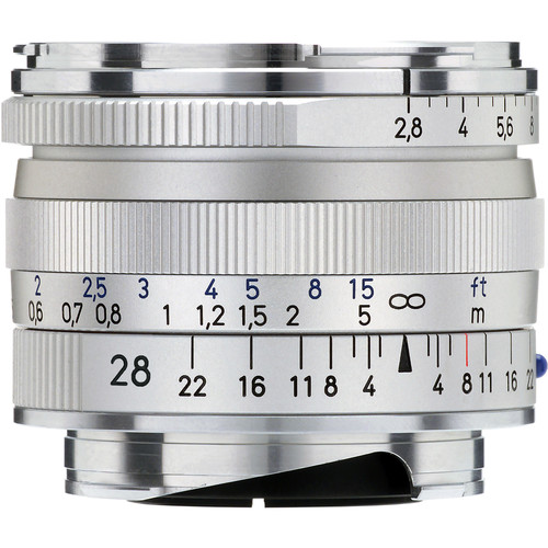 ZEISS Biogon T* 28mm F2.8 ZM Lens (Silver)