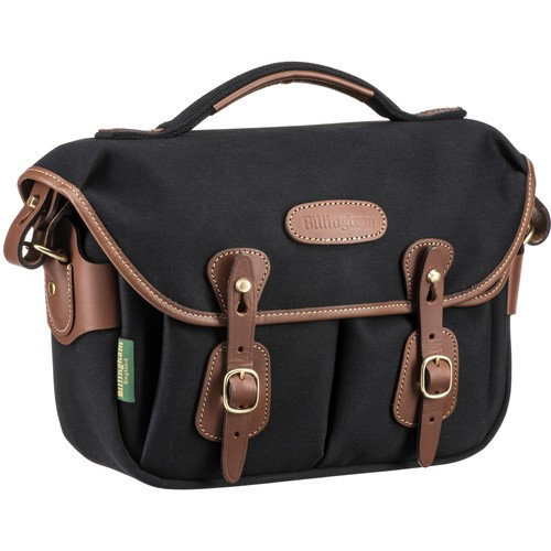 Billingham Hadley Small Pro Shoulder Bag (Black Canvas & Tan Leather)