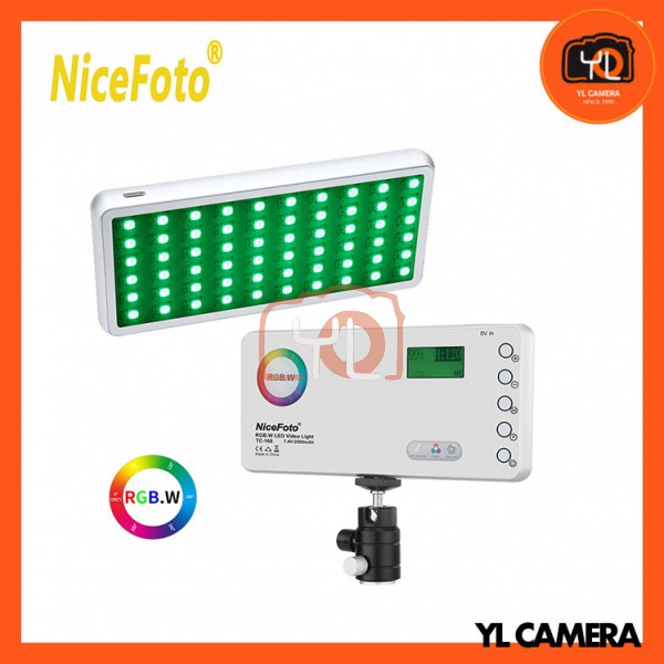NiceFoto TC-168 RGB.W Bi-color 2800-9900K 10W Pocket LED Video Light