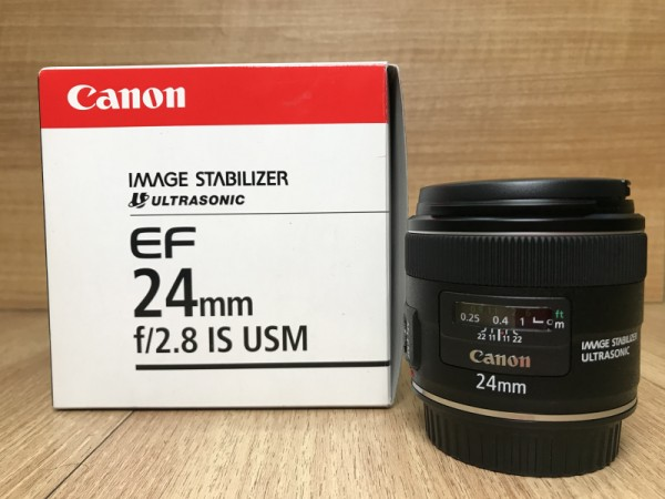 (USED YL LOW YAT)-Canon EF 24mm F2.8 IS USM Lens,99.9% Condition Like New,S/N:9220001167