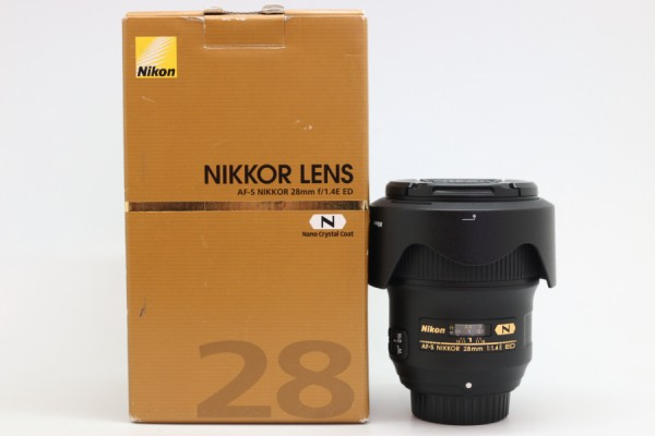 [USED-PUDU] NIKON 28MM F1.4E AF-S N ED 95%LIKE NEW CONDITION SN:201950