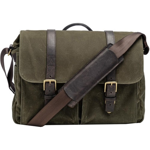 ONA Brixton Camera/Laptop Messenger Bag (Canvas, Olive)
