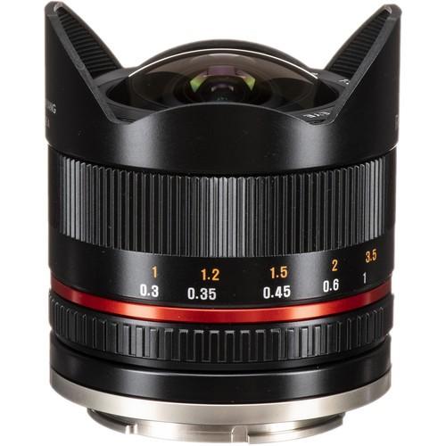 Samyang 8mm F2.8 UMC Fisheye II Lens for Fujifilm X Mount (Black)