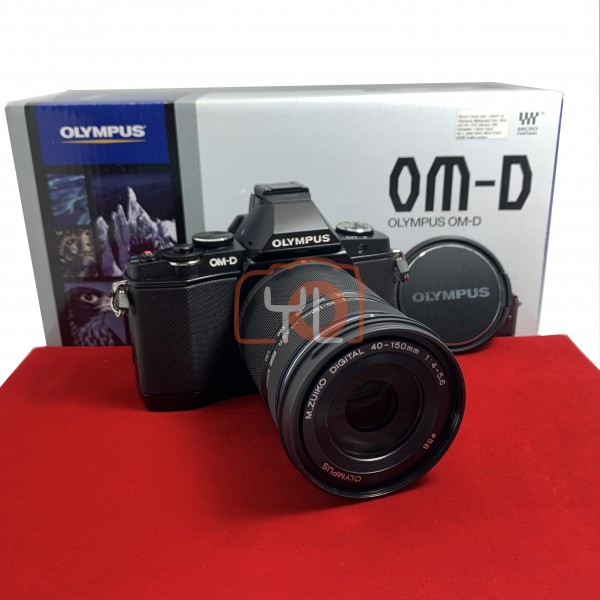 [USED-PJ33]  Olympus E-M5 With 40-150MM F4-5.6 R M.Zuiko , 95% Like New Condition (S/N:BEL515518)
