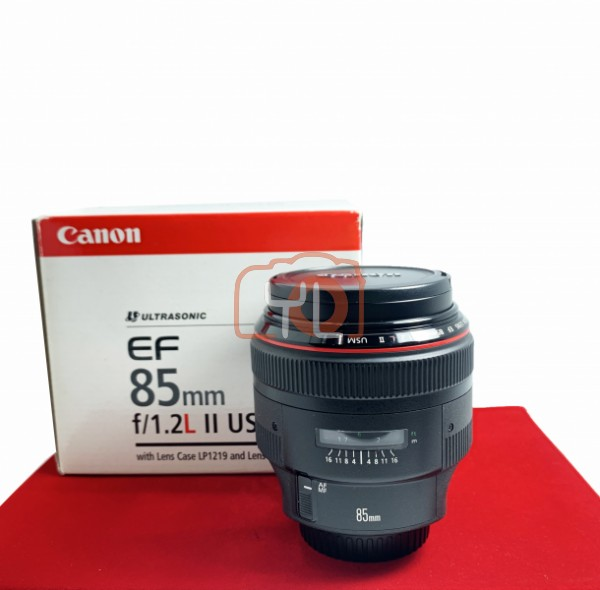 [USED-PJ33] Canon 85MM F1.2 L II USM EF, 90% Like New Condition (S/N:154809)