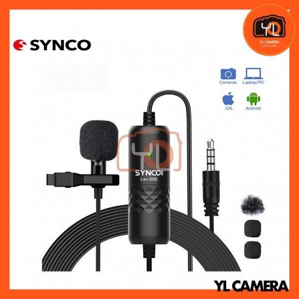 Synco Audio LAV-S6E Clip-On Omnidirectional Condenser Microphone