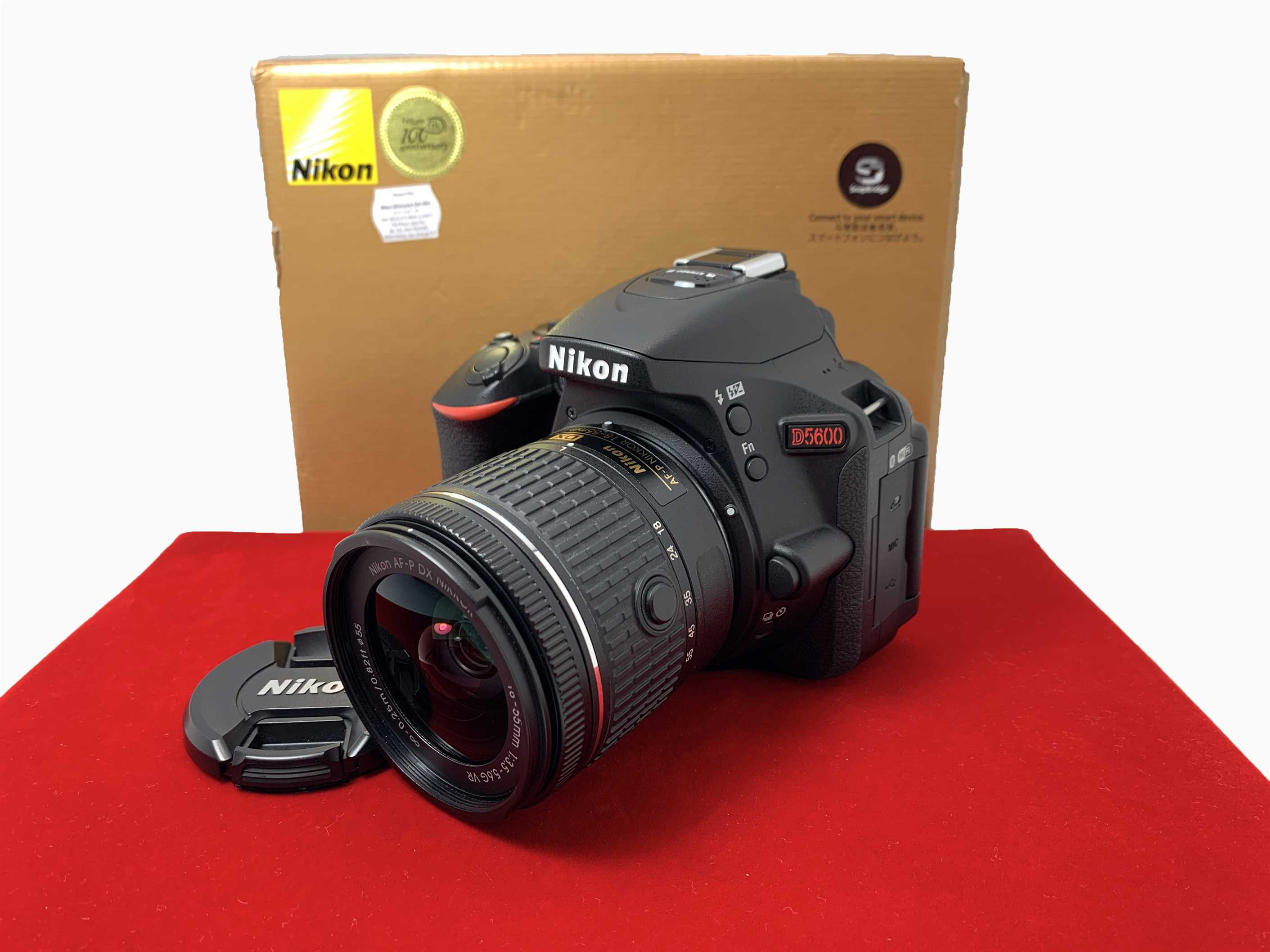 [USED-PJ33] Nikon D5600 with 18-55MM F3.5-5.6 DX AFP Lens,95% Like New Condition (S/N:8212851)