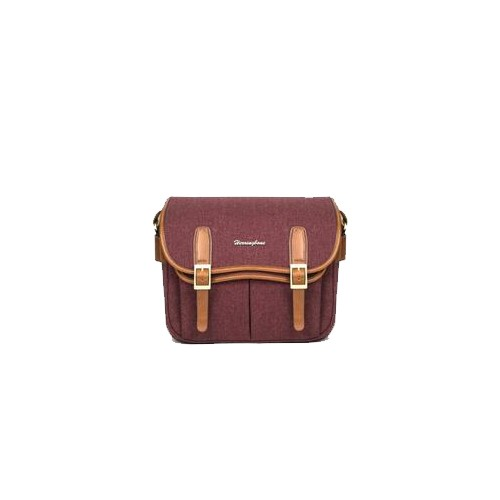 (SPECIAL DEAL) Herringbone Maniere Large Camera Bag (Wine)