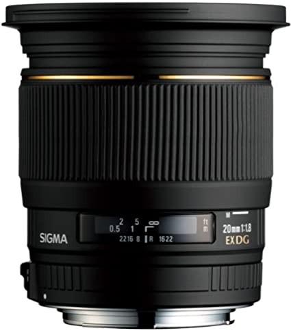 Sigma 20mm f1.8 EX Aspherical DG DF RF Autofocus Lens Nikon