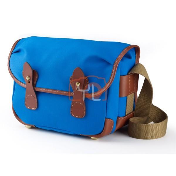Billingham L2 Camera Shoulder Bag (Imperial Blue Canvas/Tan Leather)