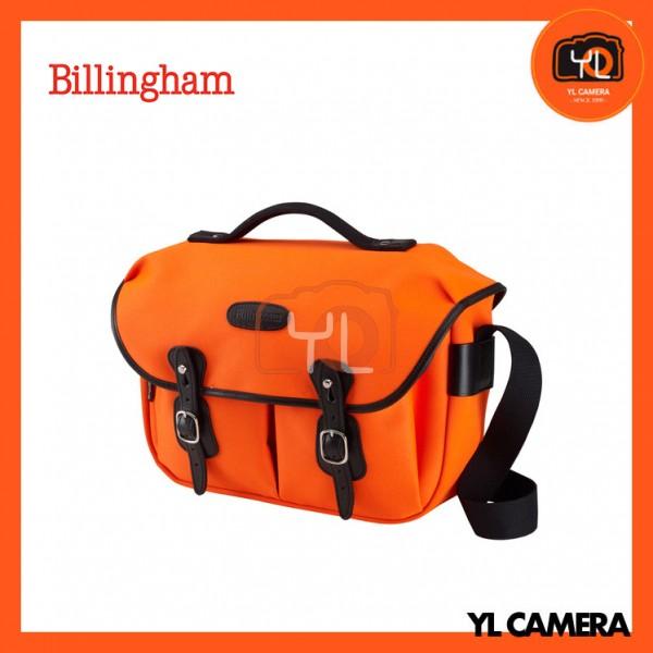 Billingham Hadley Pro Shoulder Bag (Neon Orange Canvas & Black Leather)