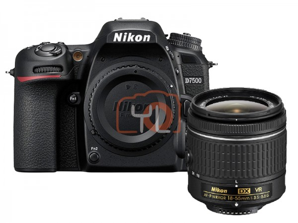 Nikon D7500 + 18-55mm F3.5-5.6G AF-P DX G VR (Free 16GB SD Card & Camera Bag)