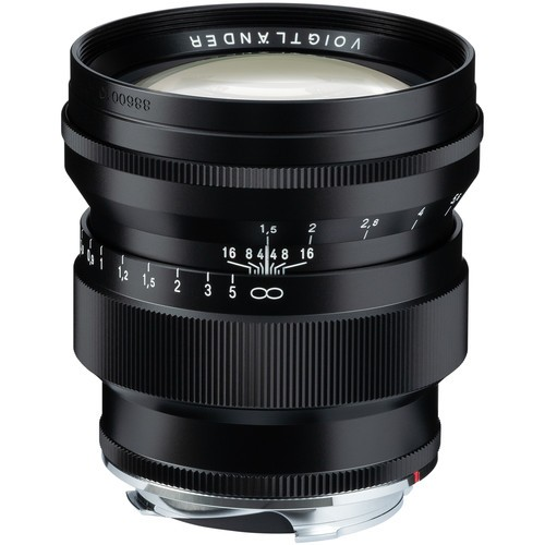 Voigtlander Nokton 75mm f/1.5 Aspherical Lens - Black (For Leica M-Mount)