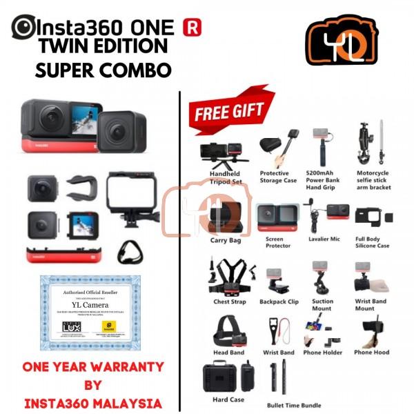 Insta360 ONE R Twin Edition ( Free Lexar 64GB 1066x Micro SD Card ) - SUPER COMBO