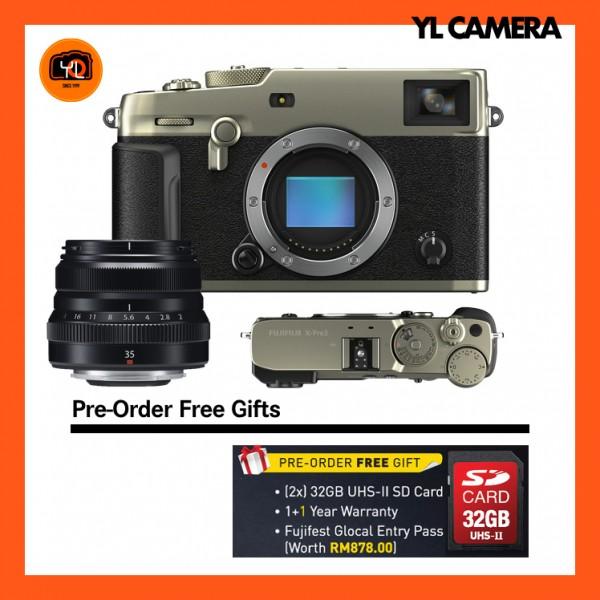 (Pre-Order) Fujifilm X-Pro 3 + XF 35mm F2 R WR (Dura Silver)