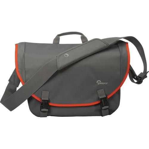 Lowepro Passport Messenger Shoulder Bag (Gray/Orange)