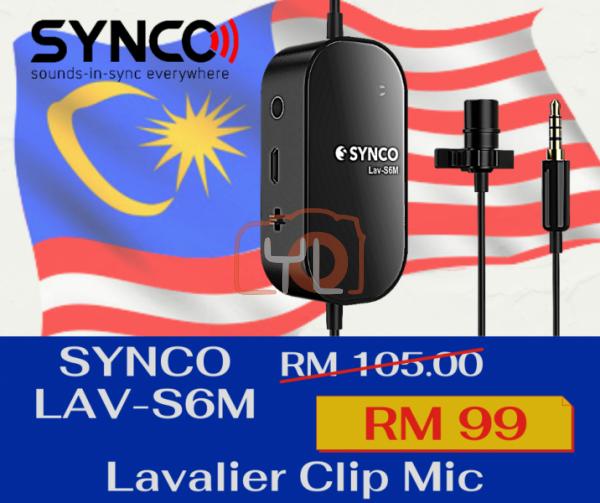 Synco Audio Lav-S6M Lavalier Omnidirectional Condenser Microphone