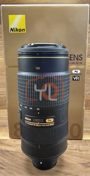 [USED @ YL LOW YAT]-Nikon AF-S 80-400mm F4.5-5.6G ED N NIKKOR Lens,95% Condition Like New,S/N:218585