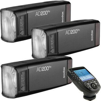 Godox AD200Pro TTL Pocket Flash Kit XPRO-N Nikon 3 Light Combo Set