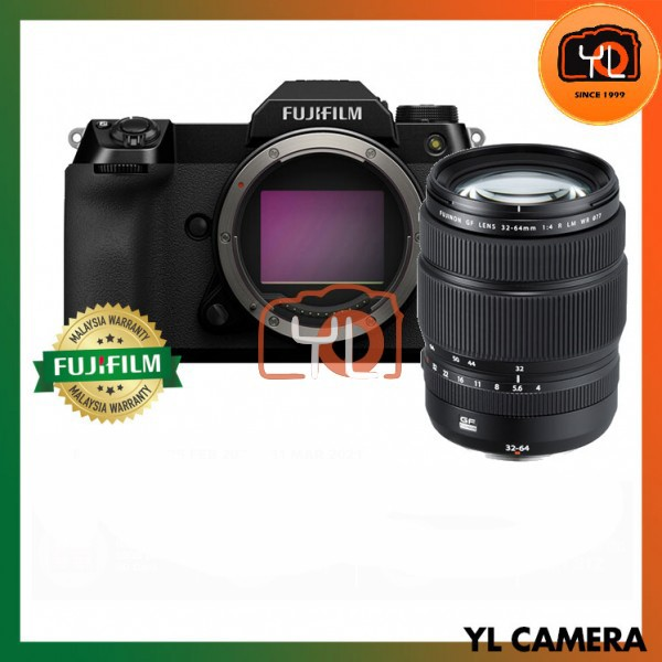 Fujifilm GFX 100S Medium Format Mirrorless Camera (Kit - GF 32-64mm F4 R LM WR)