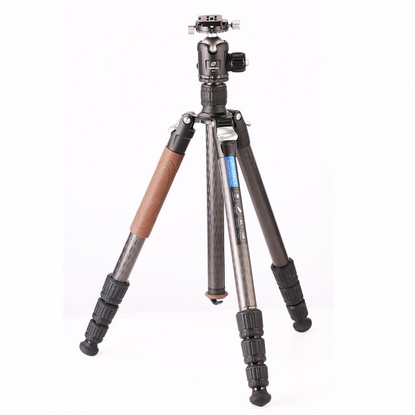 Leofoto LN-324CT W/ NB-46 32mm 4 Section Carbon Fibre Tripod Kit