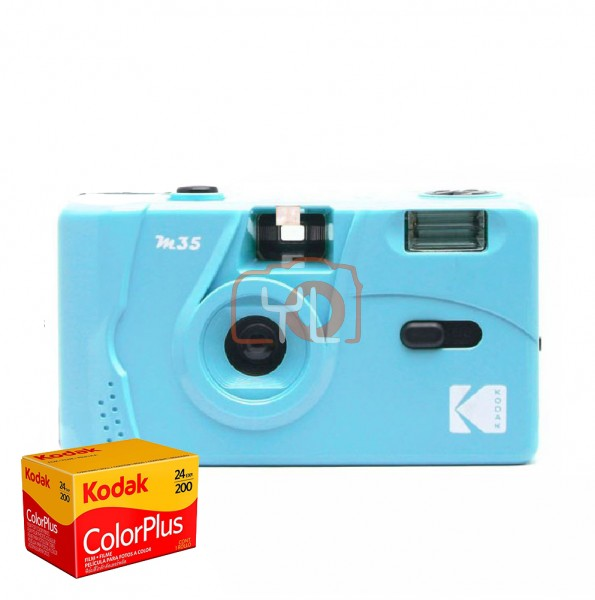 Kodak M35 Film Camera - Blue (Free 1x Kodak ColorPlus 200 Color Film)