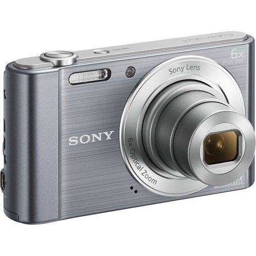 Sony DSC-W810 Digital Camera - Silver [Free 16GB SD Card + Camera Case]