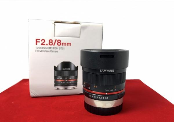 [USED-PJ33] Samyang 8MM F2.8 UMC Fisheye II, 90% Like New Condition (S/N:C315L0007)