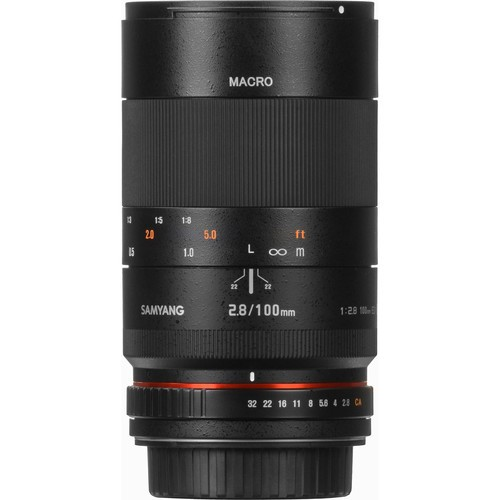 Samyang 100mm F2.8 ED UMC Macro Lens for Nikon F Mount with AE Chip