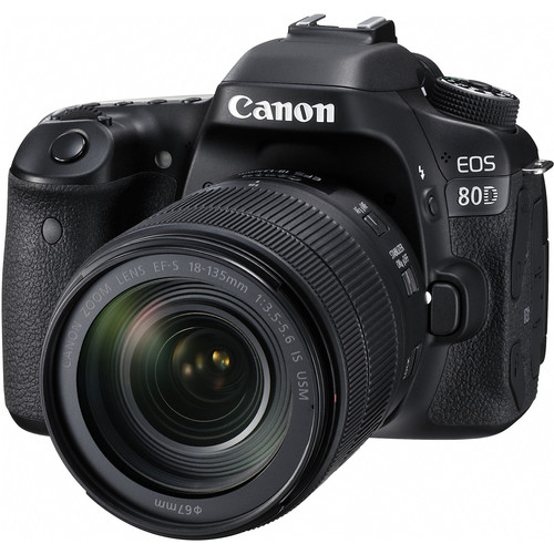 Canon EOS 80D + EF-S 18-135mm F/3.5-5.6 IS USM Lens [Free 16GB SD Card + Camera Bag]