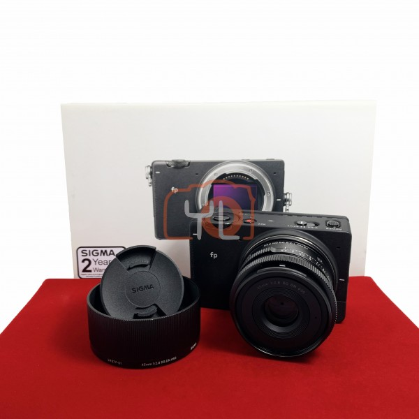 [USED-PJ33] Sigma FP With 45MM F2.8 DG DN Lens + HG-11 Hand Grip, 95% Like New Condition (S/N:91406506)