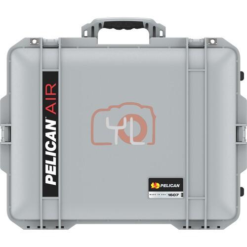 Pelican 1607 Air Wheeled Hard Case with Foam (Silver)