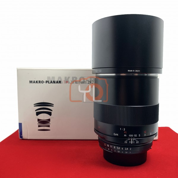 [USED-PJ33] Zeiss 100MM F2 Makro-Plannar ZF.2 (Nikon), 95% Like New Condition (S/N:15821141)