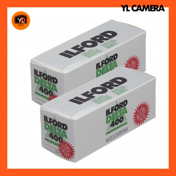 Ilford Delta 400 Professional Black and White Negative Film (120 Roll Film) – Pack of 2