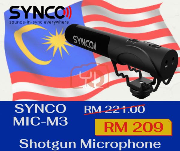 Synco Mic-M3 Camera-Mount Shotgun Microphone