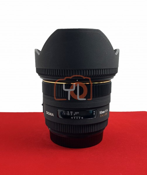 [USED-PJ33] Sigma 50mm F1.4 EX DG HSM (CANON), 95% Like New Condition (S/N:10827645)