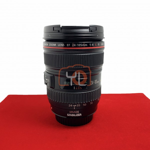 [USED-PJ33] Canon 24-105mm f4 L IS USM EF, 95% Like New Condition (S/N:4899467)