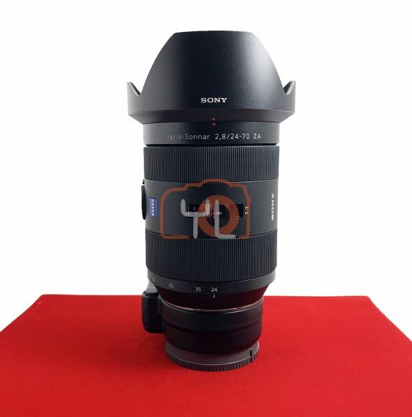 [USED-PJ33] Sony 24-70mm F2.8 SAL SSM + LA-EA4 Adapter, 95% Like New Condition (S/N:1883108)