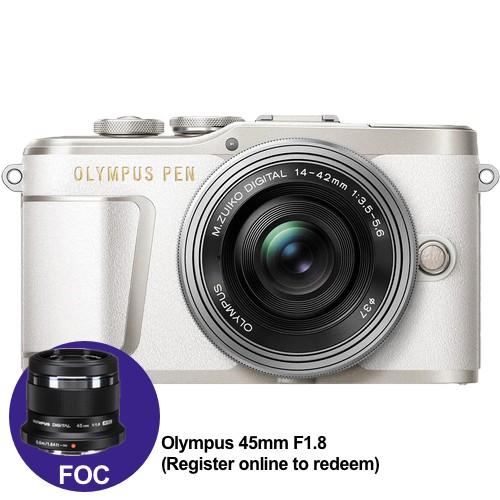 (Year End Promo) Olympus E-PL9 +  M.Zuiko 14-42mm EZ (White) [Free M.Zuiko 45mm F1.8 + Lexar 32GB 95MB SD Card + Benro Freeshoot 30 Camera Bag]