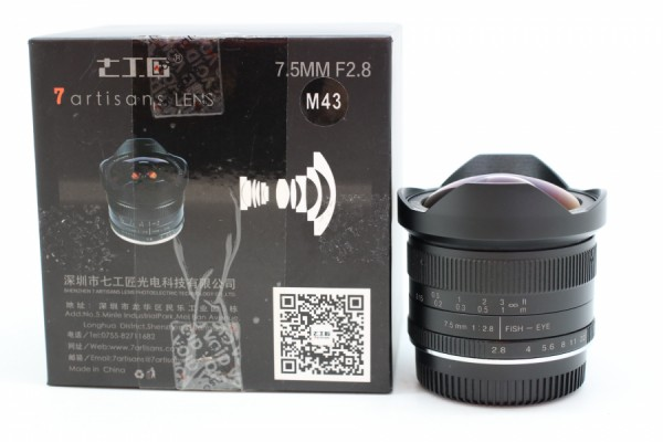 [USED-PUDU] 7artisans 7.5mm F2.8 Fisheye For Micro Four Thirds 90%LIKE NEW CONDITION SN:N01865485