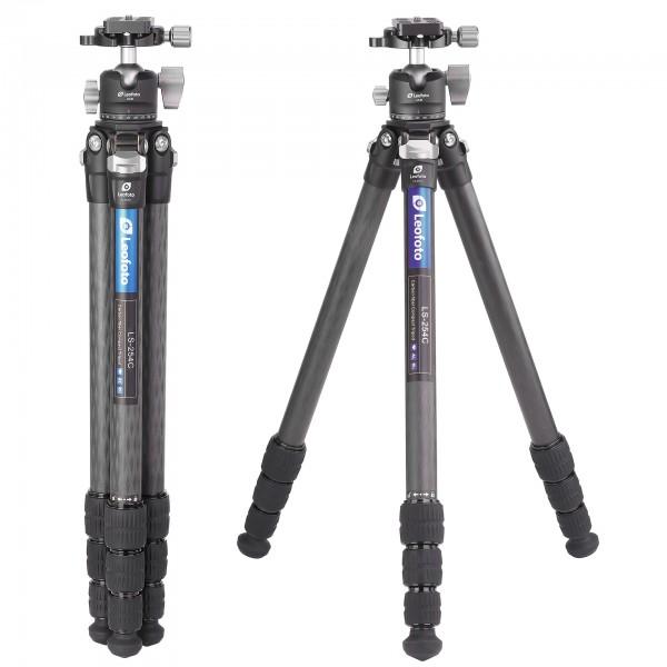 Leofoto LS-254C W/ LH-30 25mm 4sec Compact Carbon Fibre Tripod