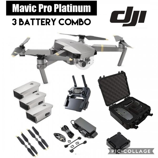 DJI Mavic Pro Platinum (3 BATTERY COMBO)