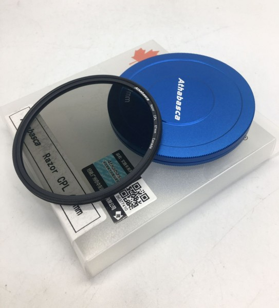 Athabasca 67mm Razor CPL filter (Circular Polarizer)