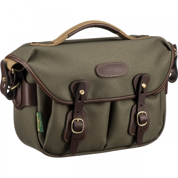 Billingham Hadley Small Pro Shoulder Bag (Sage FibreNyte & Chocolate Leather)