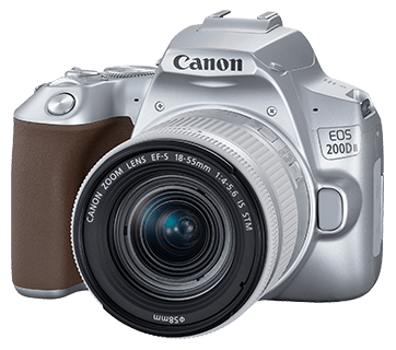 Canon EOS 200D II + EF-S 18-55mm f/3.5-5.6 IS STM Lens (Silver) [Free 32GB SD Card + Camera Bag]