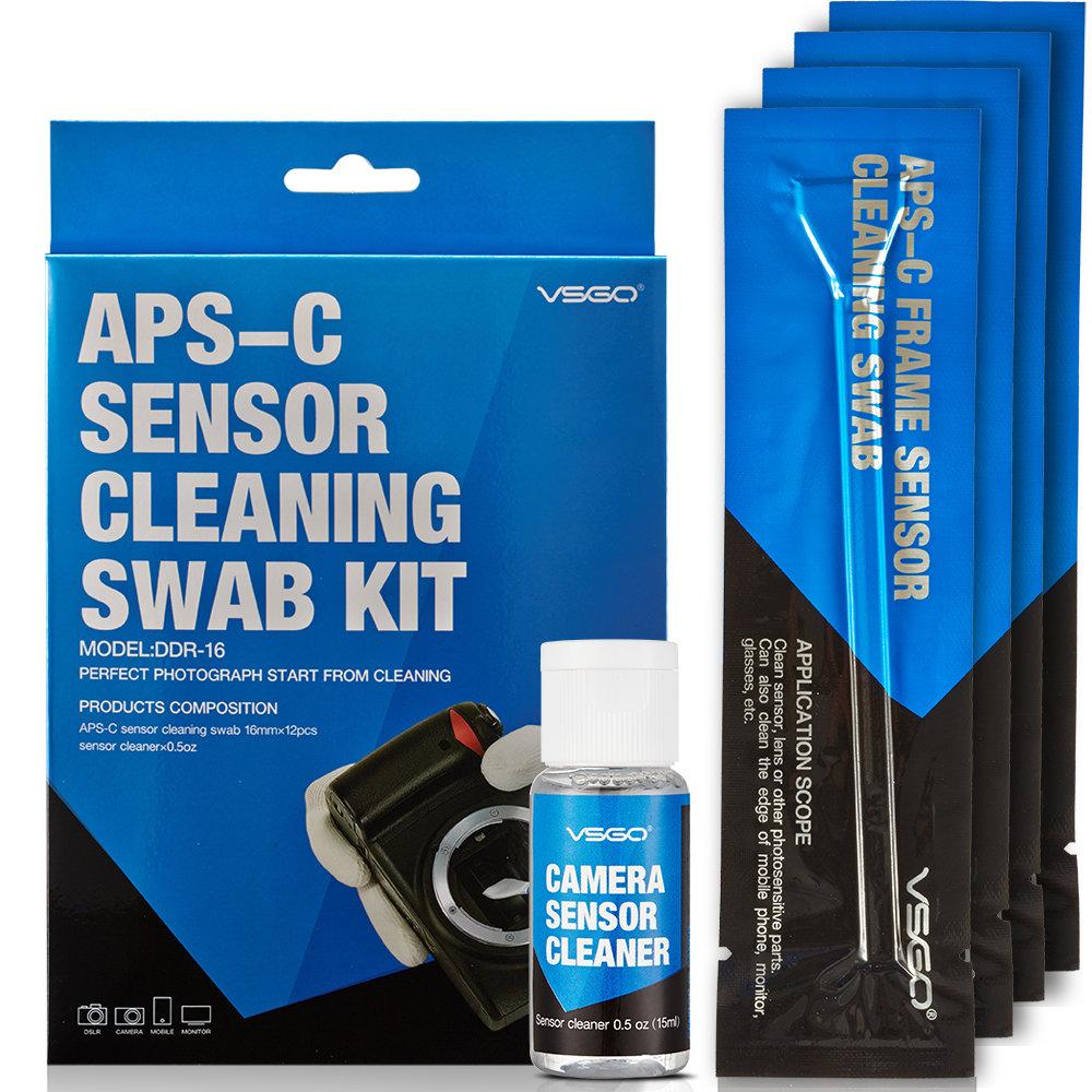 VSGO DDR16 DSLR or SLR Camera APS-C Sensor Cleaning Kit (12 X 16mm Sensor Cleaning Swabs + 15ml Sensor Cleaner)