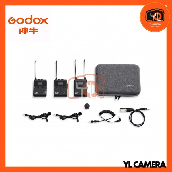 (New Product) Godox WMic S1 Kit2 UHF Portable Real-time Monitoring Wireless Lavalier Microphone Kit