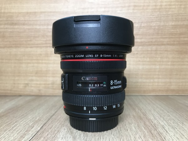 [USED-PJ33]-Canon EF 8-15mm F4 L USM Fisheye Lens,90% Condition Like New, (S/N:8100002821)
