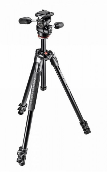 Manfrotto MK290XTA3-3W 290 Xtra Aluminum Tripod with 804 3-Way Pan/Tilt Head